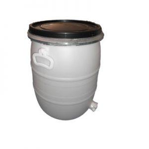 agroloja barrica 50 lt branca torneira mel